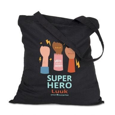 Linnen tas - superhelden