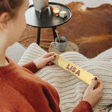 Toblerone liefdesreep met naam en foto