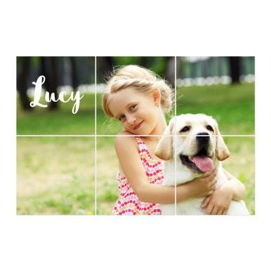 Instacollage fotopanelen bedrukken - 20x20 - Liggend - Glans (6 tegels)
