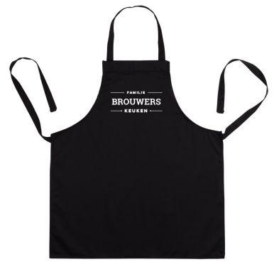 Keukenschort bedrukken - Zwart