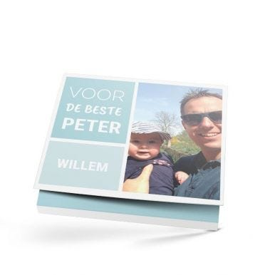 Milka giftbox bedrukken - Peter - 110 gram