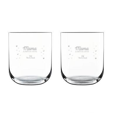 Waterglas deluxe graveren (2 stuks)