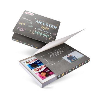 Verkade giftbox bedrukken - Juf / Meester (2 repen)