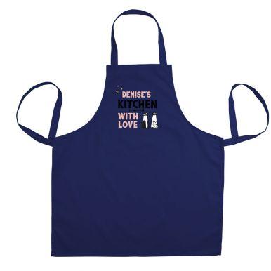 Keukenschort bedrukken - Blauw