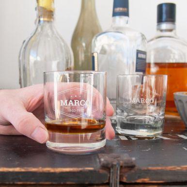 Whiskey glas met naam