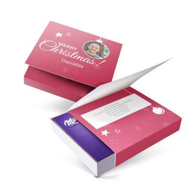 Milka giftbox bedrukken - Kerst - 220 gram
