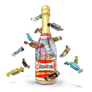 Celebrations fles in giftbox