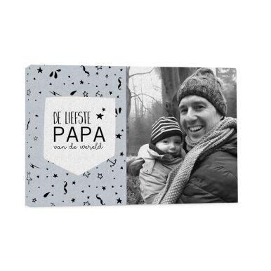 Vaderdag foto op canvas – 60x40 cm