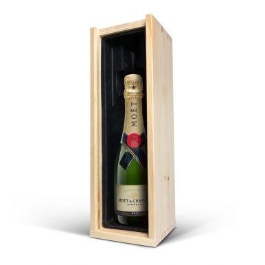 Champagne in gegraveerde kist - Moët & Chandon (375ml)