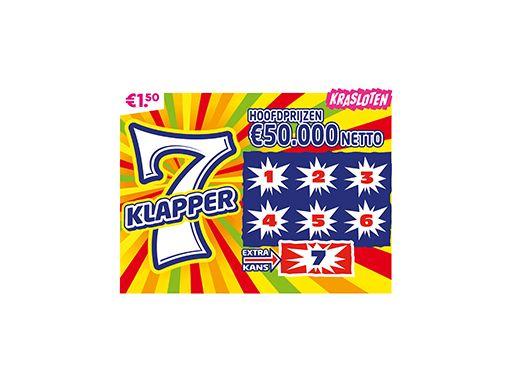 7 Klapper Kraslot (afhalen in de winkel)