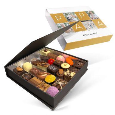 Luxe bonbon giftbox bedrukken - Vaderdag (25 stuks)