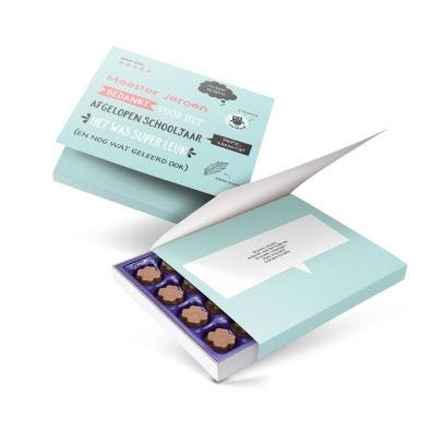 Milka giftbox bedrukken - Juf / Meester