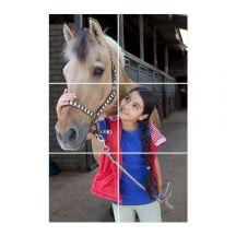 Instacollage fotopanelen bedrukken - 20x20 - Staand - Glans (6 tegels)