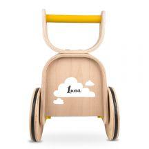 Houten speelgoed met naam - Loopauto 3-in-1