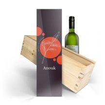 Wijn in bedrukte kist - Luc Pirlet - Sauvignon Blanc