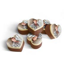 Chocolade bonbons hart met foto