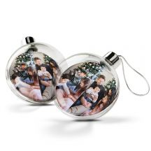 Transparante kerstbal bedrukken (2 stuks)