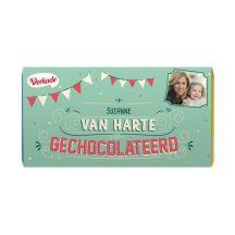 Verkade chocoladereep bedrukken - Van harte (Hazelnoot)