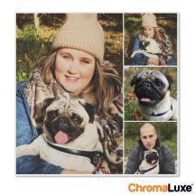 Foto op aluminium afdrukken - Wit (ChromaLuxe) - 30 x 30 cm