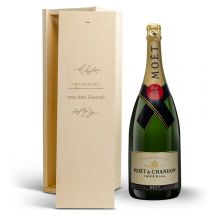 Champagne in bedrukte kist - Moët & Chandon (1500ml)