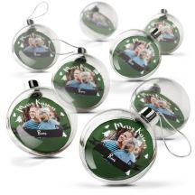 Transparante kerstbal bedrukken (8 stuks)