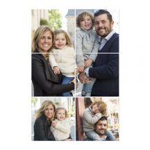 Instacollage fotopanelen bedrukken - 15x15 - Staand - Glans (6 tegels)