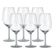 Rood wijnglas graveren - 6 stuks