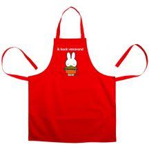 nijntje keukenschort bedrukken - Rood