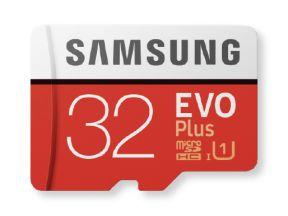 Samsung EVO+ micro SD-kaart 32GB Class 10 + Adapter