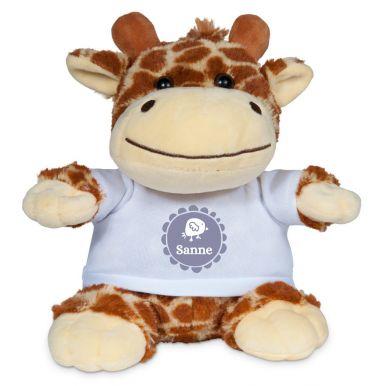 Knuffel bedrukken - Giraffe