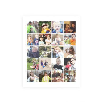 Foto collage poster maken - 'Papa en ik' (30x40)