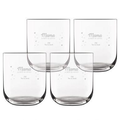 Waterglas deluxe graveren (4 stuks)