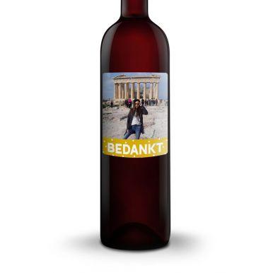 Wijn met bedrukt etiket - Luc Pirlet - Cabernet Sauvignon