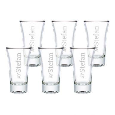 Shotglas graveren (6 stuks)