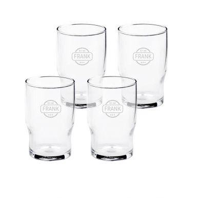 Waterglas graveren (4 stuks)