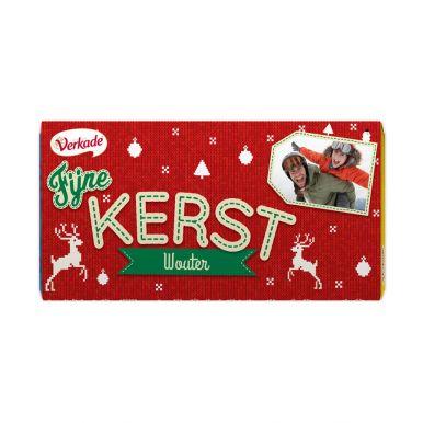 Verkade chocoladereep bedrukken - Kerst (Puur)