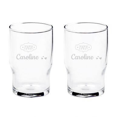 Waterglas graveren (2 stuks)