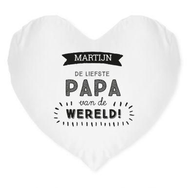 Vaderdag kussen bedrukken - Hart