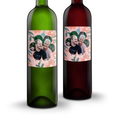 Wijnpakket met bedrukt etiket - Belvy - Wit en rood