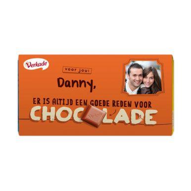Verkade chocoladereep bedrukken - Zomaar (Puur)