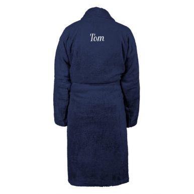 Heren badjas borduren - Donkerblauw - L/XL