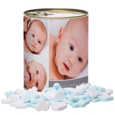 Snoepblik bedrukken - Geboorte (Jongen)