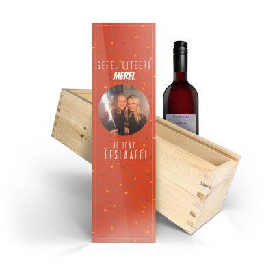 Wijn in bedrukte kist - Luc Pirlet - Merlot