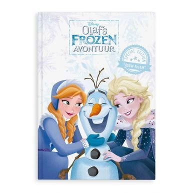 Boek met naam - Disney Frozen - Olaf's avontuur - XL boek