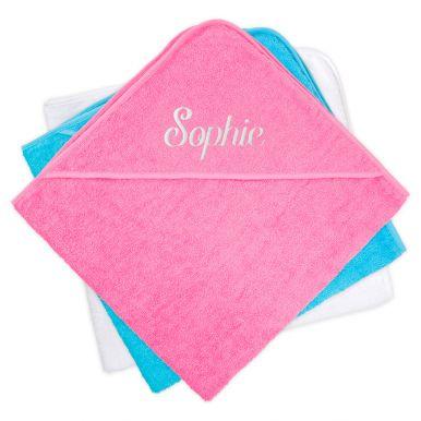Baby omslagdoek met naam - Roze
