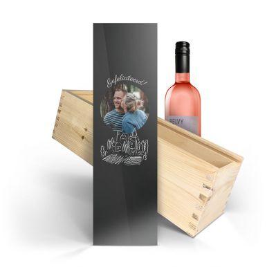 Wijn in bedrukte kist - Belvy - Rosé