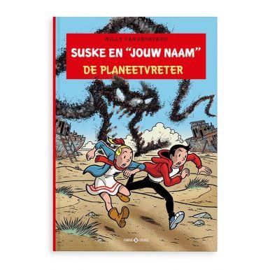 Persoonlijk stripboek - Suske en Wiske 'De Planeetvreter' (Hardcover)