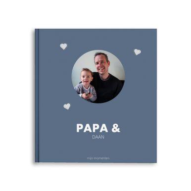 Momenten fotoboek maken - Papa & ik/wij - M - Hardcover - 40 pagina's