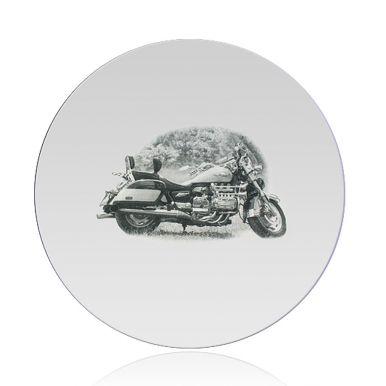 Spiegel met foto graveren - Rond